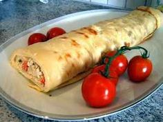 Pandekageroulade m.grøntsags/skinkefyld 4