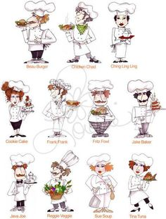 Fun Chefs Embroidery Design Collection CD by loraliedesigns, $59.00