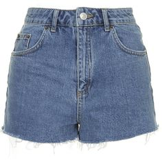 TOPSHOP MOTO Vintage Mom Shorts (170 BRL) ❤ liked on Polyvore featuring shorts, bottoms, short, pants, mid stone, high-waisted shorts, high-waisted cut-off shorts, high waisted shorts, vintage high waisted shorts and cut off short shorts