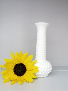 I have the same vase. This is my first milk glass item I ever bought (thrift store).  Pretty.