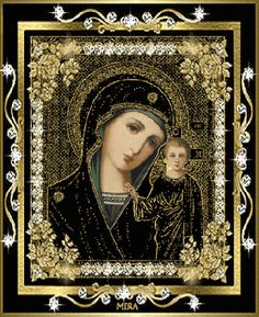 [Visit to Buy] Black icon and son diamond painting kit square drill diamond rhinestone pasted painting unfinish room decoration St Maria, Christian Friends, Beautiful Prayers, Animation, Madonna And Child, Blessed Virgin Mary, Jesus On The Cross, Angels And Demons, Believe In God
