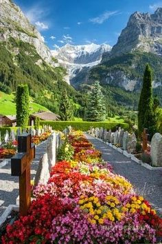 Jungfrau, Switzerland The most beautiful burial grounds ever!