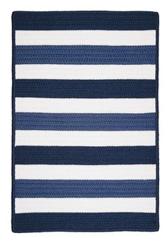 Portico Rug in Nautica by Colonial Mills Rugs - RosenberryRooms.com--could be crocheted as a blanket...