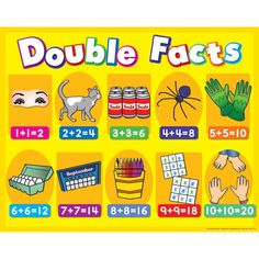 Fabulous visual for teaching double addition facts! - Thanks Shaffer! I was JUST looking for something to help with teaching doubles and doubles plus one! Love Math, Fun Math, Math Activities, Maths, Math Help, Math Resources, Math Classroom, Kindergarten Math, Teaching Math