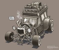 Steampunk Stagecoach by freakyfir.deviantart.com on @deviantART