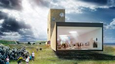 'inspiration centre' by paul de ruiter architects, grevelingen, the netherlands