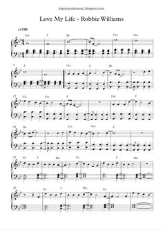 Happy 2017! I hope you will love your life and never stop dreaming.   Free piano sheet music:  Love My Life - Robbie Williams.pdf    I star...