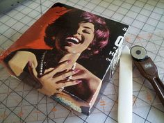 turn a record album into a treasure box