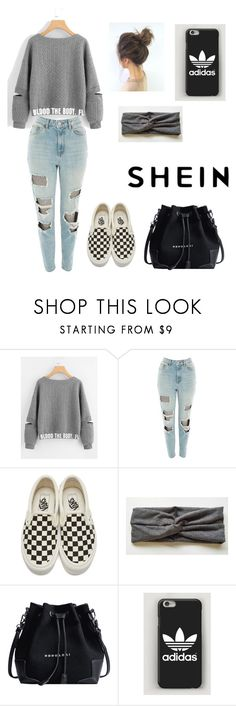 """Shein set"" by bri007 ❤ liked on Polyvore featuring Topshop and Vans"