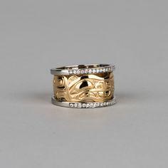 Diamond Bear Ring By Artist Frank Paulson Jewelry Box, Jewlery, Tlingit, Tribal Fashion, Jewellery Making, Native American Indians, Pacific Northwest, Indian Jewelry, West Coast