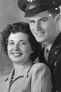 Clark and Lucia Benington on their wedding day, May 15, 1943.