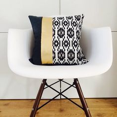 Decorative Throw Pillow Cover 18x18 Cushion by sheshappydesign