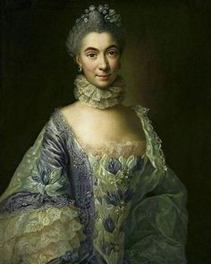 Anna Rosina de Gasc Portrait of a lady in lavender dress - The Largest Art reproductions Center In Our website. Low Wholesale Prices Great Pricing Quality Hand paintings for saleAnna Rosina de Gasc Rococo Fashion, Fashion Art, Vintage Fashion, Fashion Portraits, 18th Century Dress, 18th Century Fashion, Ladies In Lavender, Medieval, Lavender Dresses
