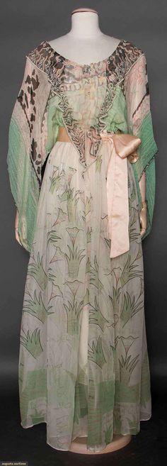 Zandra Rhodes Painted Dress, 1970s