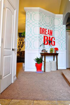 Coral and Mint Home Decor {Entryway Evolution}