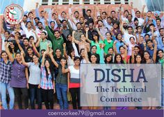 Disha-The Technical CommitteeThe mission of the organisation is to ignite young minds and channelize their energies to bring out their inherent creative abilities. Disha continually adds new dimensions to its undertakings in order to turn the hopes of today into the realities of tomorrow.