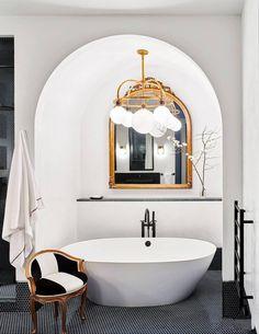 Small Bathroom Mirrors, Bathroom Mirror Design, Art Deco Bathroom, Simple Bathroom, Modern Bathroom, Bathroom Ideas, Art Deco Kitchen, Colorful Bathroom, Bathroom Trends