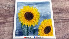 Sunflowers Acrylic Painting for Beginners   Joy of Art #176 Acrylic Painting For Beginners, Sunflowers, Painting & Drawing, Joy, Canvas, Drawings, Tela, Glee, Canvases