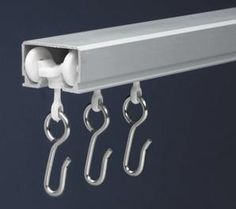 $29.95 ceiling curtain track - I've been looking everywhere for a curtain rod like this!.
