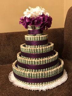 Custom Money Cake | Etsy Money Rose, Money Lei, Money Origami, Money Birthday Cake, Diy Birthday, Birthday Gifts, Dollar Bill Cake, Dollar Bills, Homemade Gifts