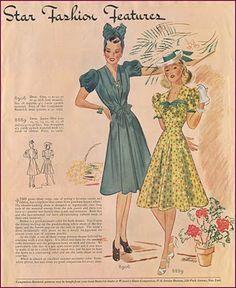 Late 30's dress patterns