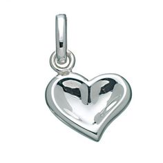 Silver Thumbprint Heart Charm