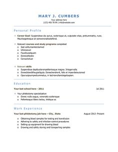 Download 10 professional phlebotomy resumes templates free ...