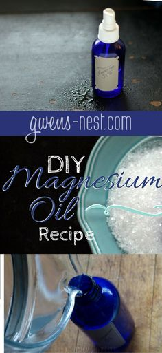 Magnesium oil for relaxation, sleep, and muscle cramps...make your own with this simple recipe!
