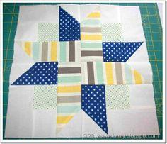 Four Patch Star Block block 7