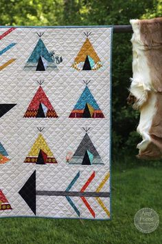 The My Tribe quilt seems to be one of the most popular quilts in my new book, Intentional Piecing. I have to say that I really enjoyed making it as well. It's a fun combination of paper pie…