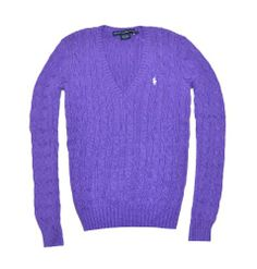 Ralph Lauren Sport Women Pony Logo Cable Knit V-neck Sweater (M, Bright Amethyst) RALPH LAUREN,http://www.amazon.com/dp/B00CS7NQU4/ref=cm_sw_r_pi_dp_zpOdtb0FB05SDQEM