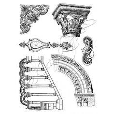 Architecture, format A5, Katzelkraft, tampon scrap en caoutchouc, fabrication française.