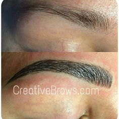 Visit me at: #creativebrows.com #microblading #hairstrokes   #featherstrokebrows  #wakeupwithmakeup #3dEyebrows #Fleekbrows #CentralFlorida #Str8Endz   Instagram -creativebrows407