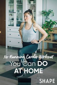 Fit in this run-free cardio session at home in 20 minutes or less. #athomeworkouts #cardio
