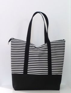 This Extra Large Tote Bag Is Made From Cotton Canvas And Decorator Fabrics Fully Lined