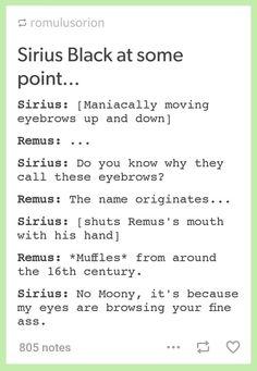 Eyebrowse [Remus's ass]