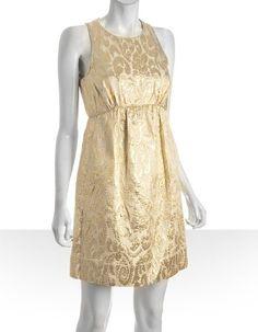 Shoshanna Gold Abstract Brocade Bridesmaid Dress from Bluefly, $164