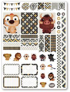 Lion-Freunde dekorieren Kit / wöchentlich von PlannerPenny auf Etsy