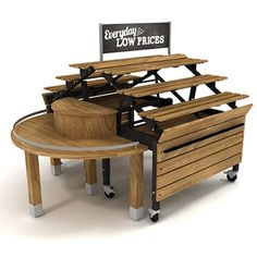 Bakery Display Tables and Racks | Bakery Orchard Bins | Grocery ...