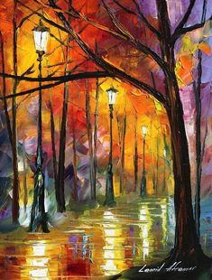 BLUES OF NIGHT - L. AFREMOV by Leonidafremov on deviantART