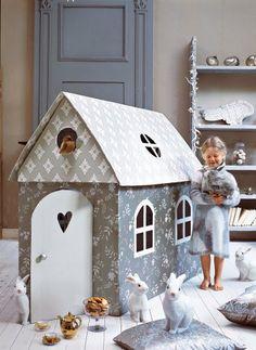 cardboard & wallpaper playhouse