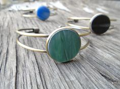 Stained Glass Brass Cuff Bracelet by Tocasol on Etsy