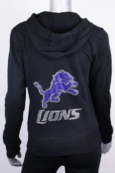 Mens Detroit Lions Pro Line Charcoal Lightweight Full Zip Hooded Big & Tall Jacket