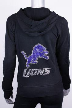 Mens Detroit Lions Pro Line Charcoal Lightweight Full Zip Hooded Big & Tall Jacket