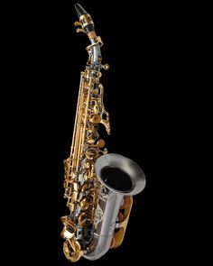 My Cannonball Black nickel gold lacquer stone series saxophone, fantastic rich tone for a sop and amazing good looks.   I love it so much.