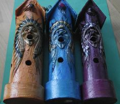 Native American incense burners. These will create an atmosphere of peace and tranquility in your home.  26cm long and hand carved and painted in a choice of 3 colours.  Also called ash-catchers, as they will catch the ash from your incense as it falls,  Fair trade from Mexico and stunning with an elegant glaze.  £14.99 each, including postage and packaging, from Green Goddess Earth.   http://www.greengoddessearth.co.uk/