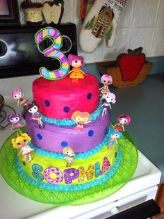 lalaloopsy cake i made for my little girls 3rd birthday :)