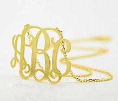 Gold monogram necklace ($29)