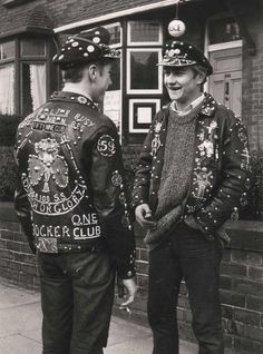 Bikers Of The 59 Club East London Ca 1965