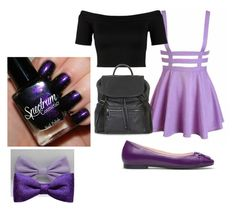 """""""Purple and black"""" by nickibrian on Polyvore"""